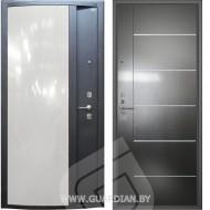 Стальная дверь Гардиан ДС2 Глянец белый