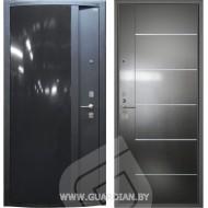Стальная дверь Гардиан ДС2 Глянец черный