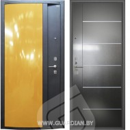 Стальная дверь Гардиан ДС3 Глянец желтый